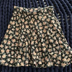 Urban outfitters high waisted floral skater skirt